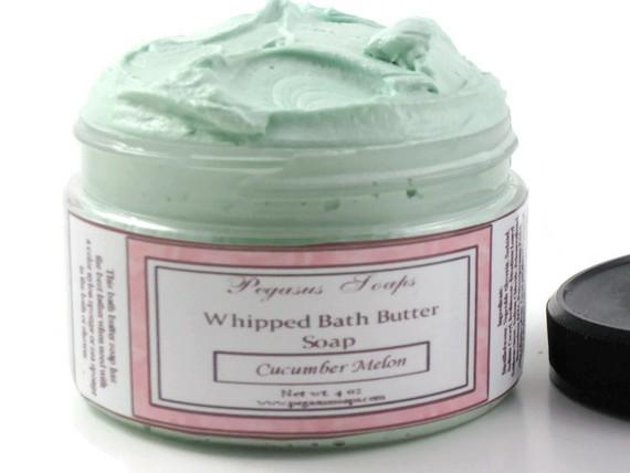 Whipped Bath Butter Soap 4 oz Cucumber Melon